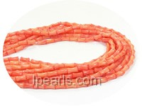 5*8mm goldfish yellow bone shape coral strand