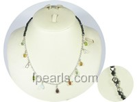 wholesale multi-colors crystal necklace