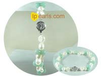 7-8mm white smooth-on-both-side jewelry pearls bracelet