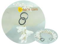 two rows 8*18mm white quadrate Biwa jewelry pearl bracelet