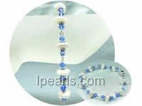 royal 10mm white coin freshwater pearl brecelet