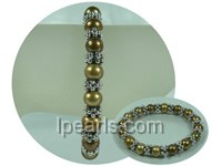 8-9mm coffee potato freshwater pearl stretch bracelet