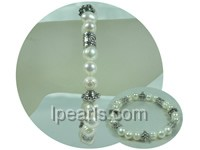elegant 8-9mm white potato pearl stretch bracelet