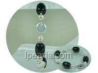 lovely 7-8mm white potato and coin freshwater pearl bracelet