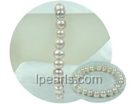 elegant 8-9mm purple potato pearl elastic bracelet on sales