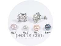 generous 9-9.5mm bread freshwater pearl clip earrings
