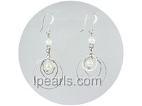 white potato shape pearl earrings wholesale