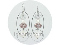 4-5mm and 10-11mm white freshwater pearl earrings