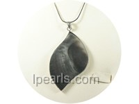 4*7cm black irregular shape sea shell pendant