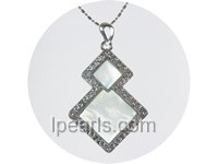 4*6cm charming 3 pcs triangle white shell pendant