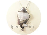 3*4.5cm irregular shape white shell pendant
