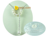 white potato and white tear drop freshwater pearl necklace