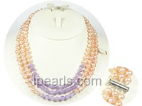 7-8mm freshwater pearl necklace with crystals