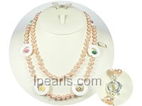 potato shape 7-8mm freshwater pearl necklace wholesale