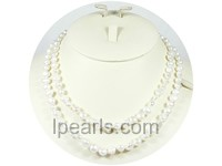 wholesale 7-8mm white freshwater pearl necklace