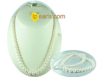 special white freshwater pearl necklace on wholesale