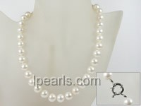 wholesale single strand 11mm white round pearl necklace