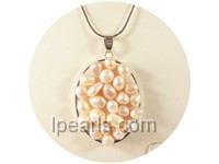 3.5*4.8cm pink nugget freshwater pearl pendant