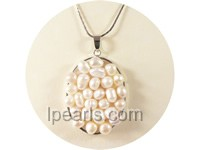 3.5*4.8cm white nugget freshwater pearl pendant