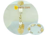 8-9mm white rice jewelry pearls bracelet