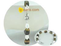8*10mm square gemstone bracelet with white pearl