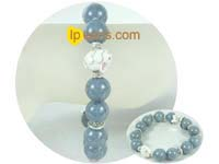 fashion gray gemstone bracelet with zircon