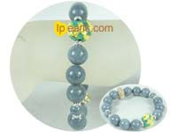 ingenious 12mm gemstone bracelet with gold zircon accessory
