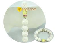 wholesale charming 12mm white fossil bracelet