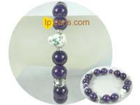 charming 12mm dark purple gemstone bracelet from China