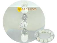 discount 12mm white marble bracelet on wholesale