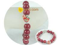 ingenious 12mm and 8mm red bowlder bracelet