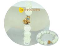 wholesale charming 12mm white marble bracelet
