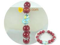 discount sale ingenious 12mm red jade bracelet