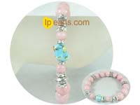 fashion 12mm and 8mm pink bowlder bracelet on wholesale