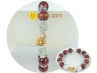 fashion 12mm red carnelian bracelet on wholesale