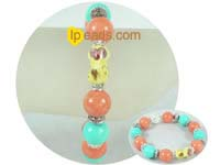"cute 7.5"" monkey bracelet in 12mm gemstone"