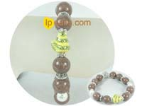 "7.5"" Chinese Zodiac bracelet of chocolate gemstone"