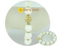 wholesale elegant 12mm white gemstone bracelet
