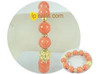"wholesale cute 7.5"" orange gemstone bracelet"
