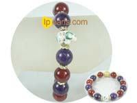 zodiac bracelet with 12mm agates and gemstones