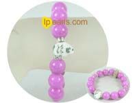 fashion 8mm and 12mm purple gemstone bracelet