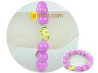 discount sale beauty 12mm purple gemstone bracelet