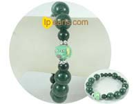 charming 8mm and 12mm dark green gemstone bracelet