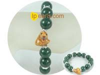 charming 12mm dark green gemstone bracelet