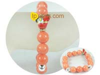 charming 12mm jacinth gemstone bracelet