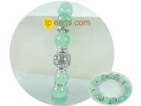 green 10mm aventurine bracelet on wholesale