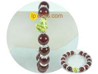 precious 12mm red agate bracelet with Chinese Zodiac