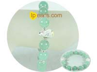 12mm green bowlder bracelet from China