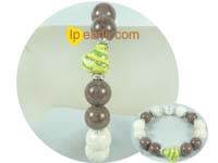 wholesale 12mm special Chocolate and cream barcelet
