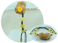 adjustable cord yellow jade adjustable bracelet on wholesale